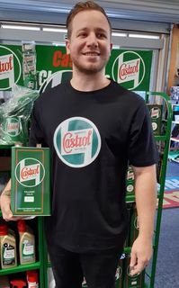 New Black Castrol Classic T-Shirts now in stock