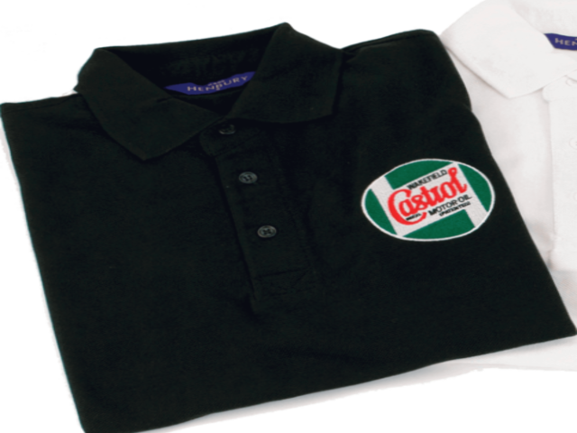 CASTROL CLASSIC POLO SHIRT BLACK - MEDIUM